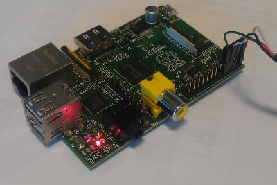 Raspberry Pi with serial cable
